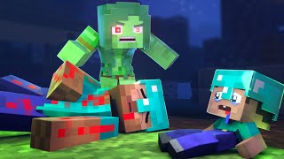 The minecraft life of Steve and Alex | Mom Zombie | Minecraft animation