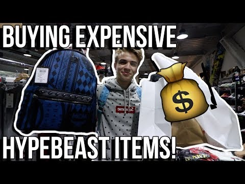 BUYING EXPENSIVE HYPEBEAST ITEMS IN NYC!! (Supreme, Bape, MCM, etc)