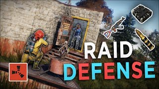 DEFENDING my BASE then STEALING ALL of his EXPLOSIVES! - Rust Solo Survival #7 (END)