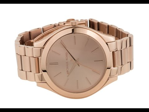 mk3197 michael kors rose gold slim runway ladies watch. Black Bedroom Furniture Sets. Home Design Ideas