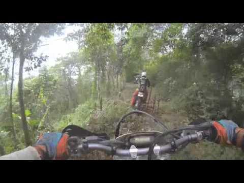 Costa Rica KTM dirt bike tour, tight single track. Moto Tours Costa Rica
