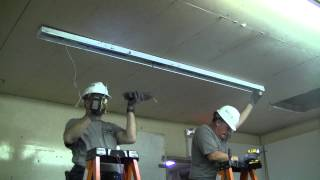 how to lighting retrofit for 2 t12 fluorescent 8 foot tubes to 2 t8 lamps 4 foot