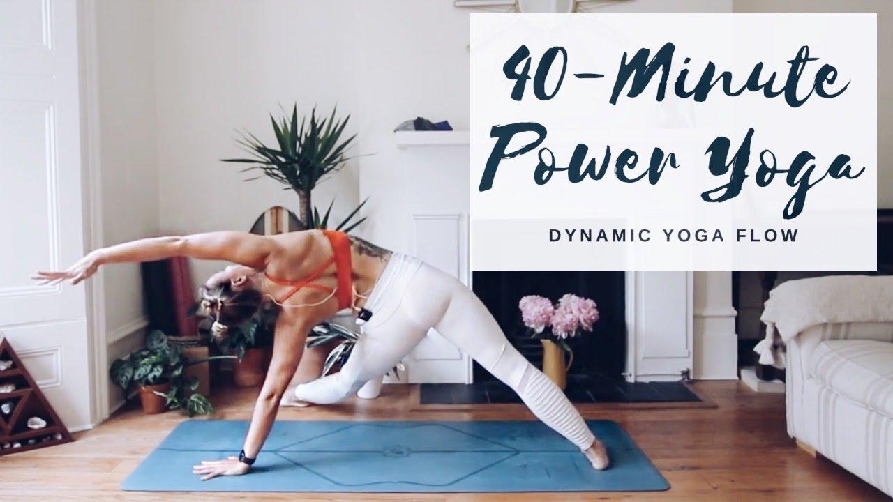 40 Minute Power Yoga Intermediate Level Cat Meffan Youtube
