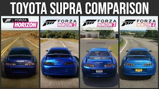 Toyota Supra Sound and Graphic Comparison - Forza Horizon 1 vs Horizon 2 vs Horizon3 vs Horizon 4