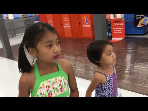 Abigail Khim Rem and Sister Lily go to Shopping at Wisconsin State Walmark