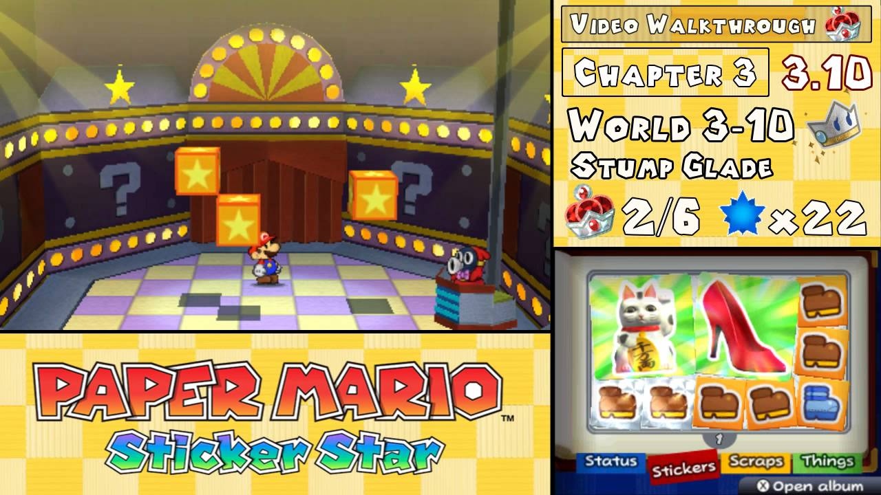 paper mario sticker star 3-12 help Thank you for choosing the paper mario': sticker star game far the and tips to help you enjoy your sheet of paper so you can stick.