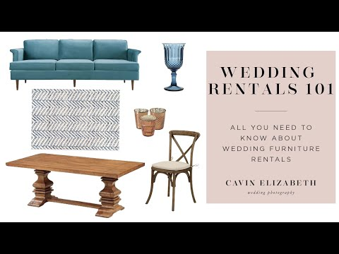 Wedding Furniture Rentals 101 With To Be Designed San Diego
