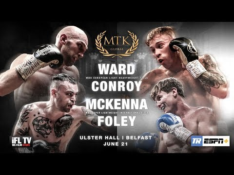LIVE PROFESSIONAL BOXING! - MTK GLOBAL PRESENTS     'FIGHT NIGHT BELFAST' -  ULSTER HALL / FULL CARD
