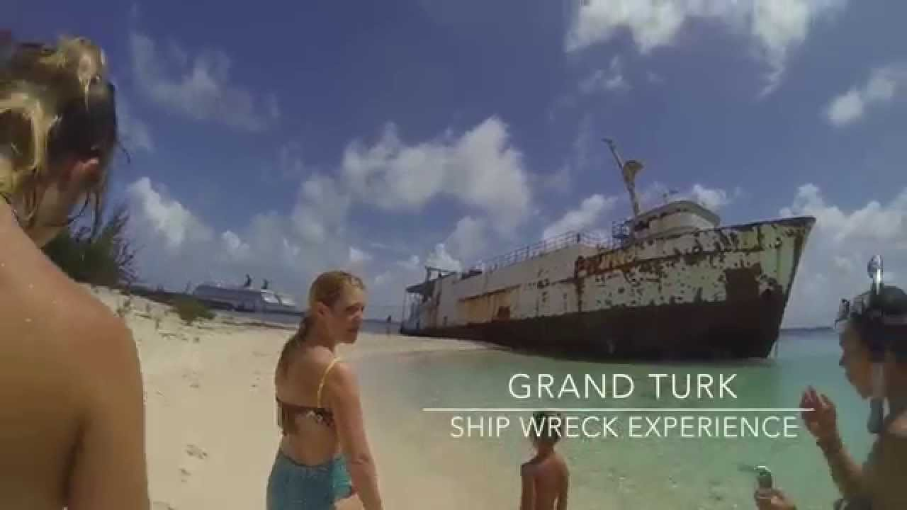 grand turk snorkeling at governors beach shipwreck youtube