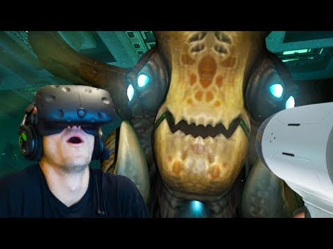 GIANT SEA MONSTERS IN VIRTUAL REALITY - Subnautica Gameplay