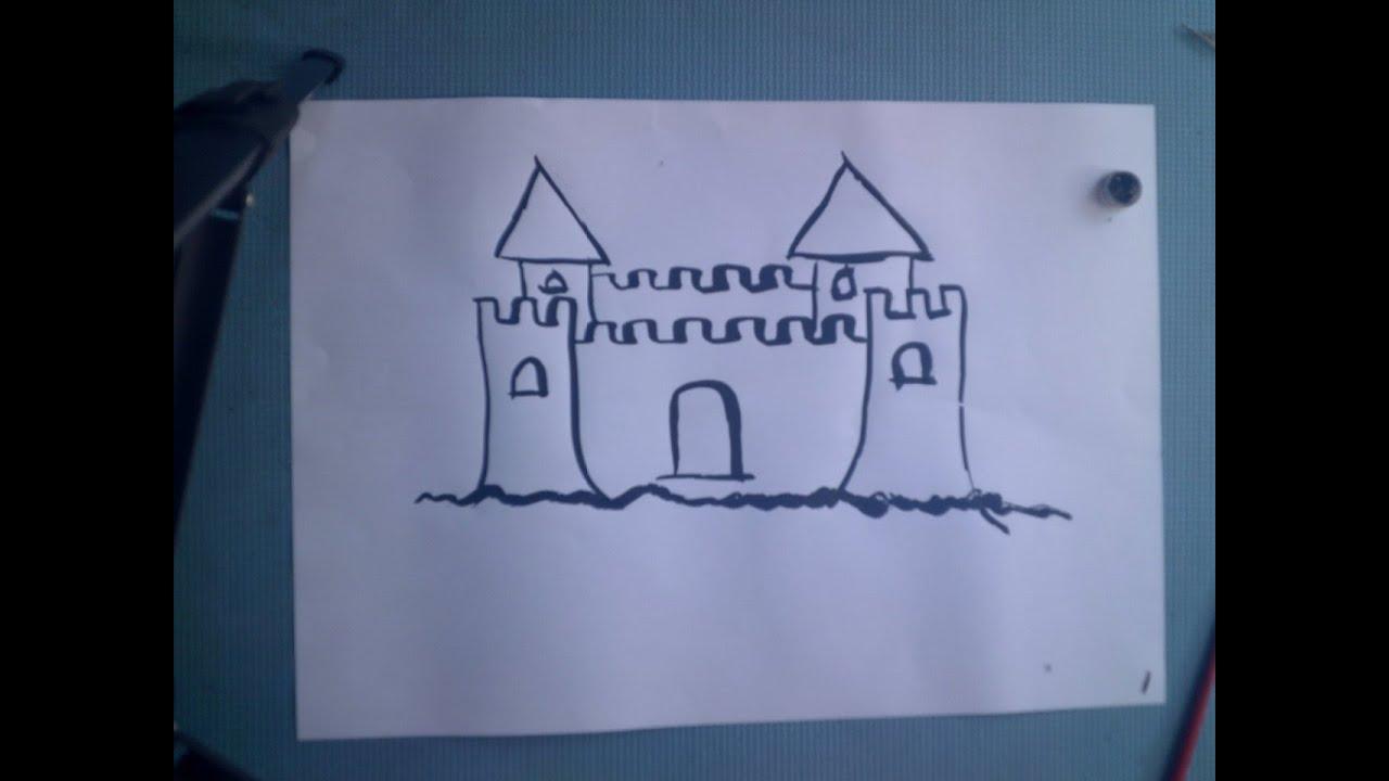 Cara Menggambar Untuk Pemula Bagian 1 Istana Benteng YouTube