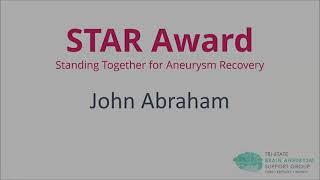2021 STAR Award - John Abraham