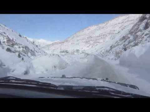 Crossing the Anzob-Pass Tajikistan during winter / 4.2.2014