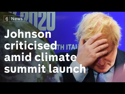 Boris Johnson comes under fire from sacked climate conference boss