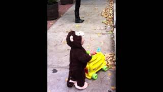 Connor Gerard as a monkey
