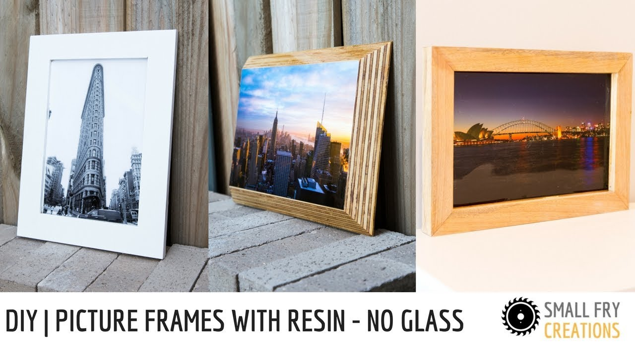 Diy Picture Frame Glass Diy Picture Frames With Resin No Glass Youtube