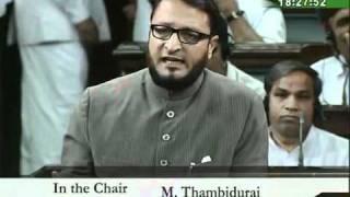 MIM MP Barrister ASADUDDIN OWAISI SPEECH IN PARLIAMENT ON ISREAL