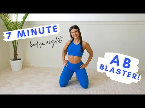7 Minute Ab Blaster Workout Home Bodyweight Abdominal & Core Fitness Exercise Routine