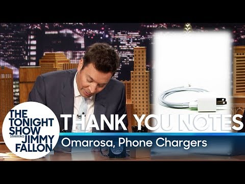 Thank You Notes: Omarosa, Phone Chargers Mp3