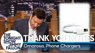 Thank You Notes: Omarosa, Phone Chargers