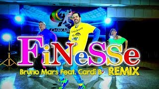 FINESSE (Remix) - Bruno Mars ft Cardi B Dance | Chakaboom Fitness l Choreography I coreografia