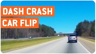 Car Flips Over | Tire Blowout
