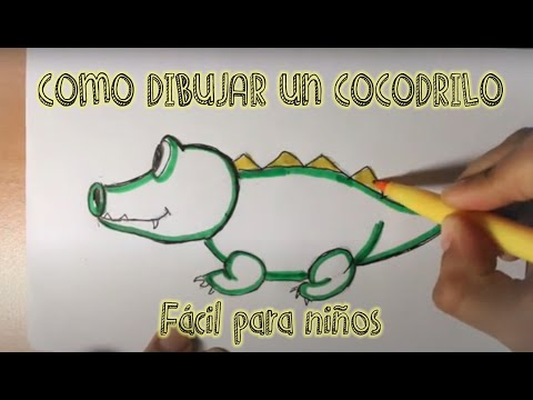 Dibujando Caricatura De Cocodrilo Youtube