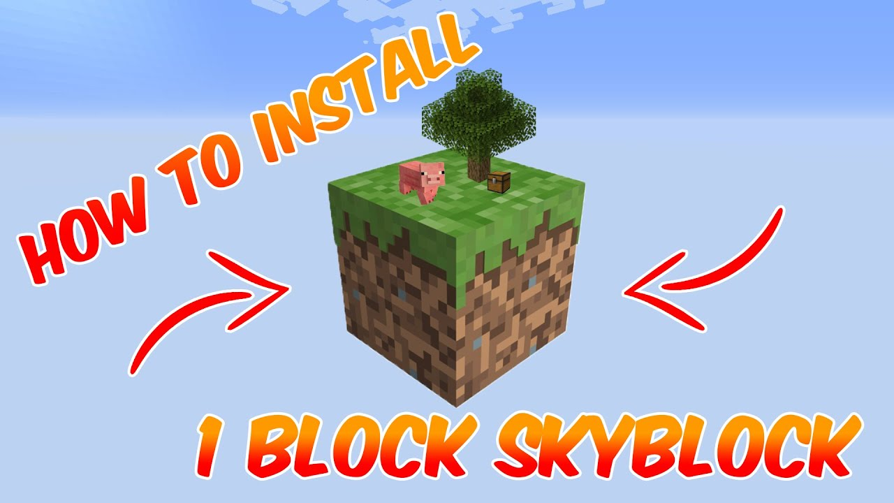 Minecraft 1 15 2 HOW TO PLAY ONE BLOCK SKYBLOCK YouTube