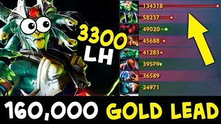 WTF this game — 160,000 gold lead, 3300 last hits Megas defence