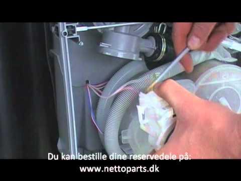 udskiftning af pumpe opvaskemaskine