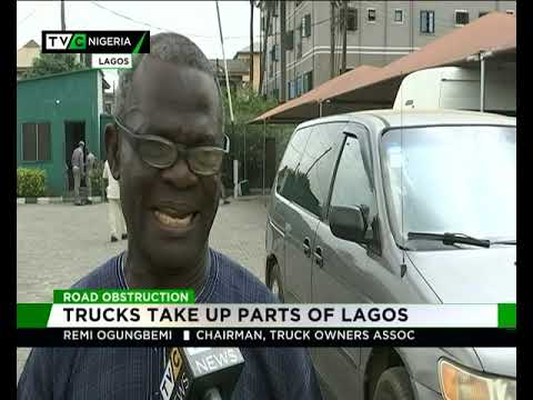 Trucks take up parts of Lagos