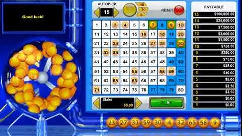 OLG Online KENO Hitting 9 NUMBERS $5 Bet Review Online Slot Machine Live Play BIG WIN