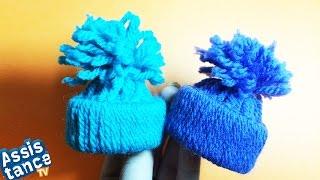Шапочка из ниток / Поделки СВОИМИ РУКАМИ(Вы узнаете как можно сделать мини шапочки из ниток и картона) Использовать их можно где угодно и делаются..., 2014-12-16T21:45:10.000Z)