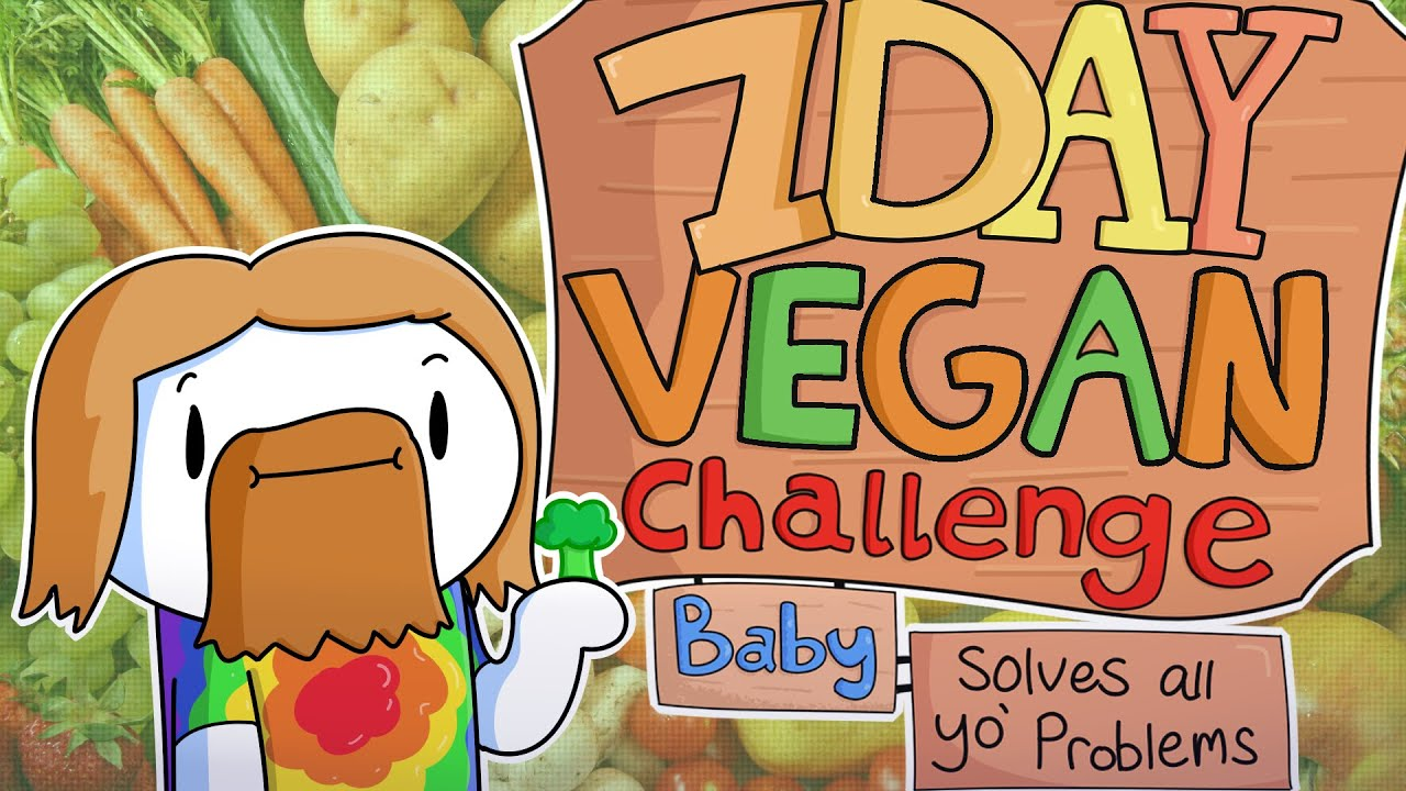 Image result for theodd1sout 7 day vegan challenge baby