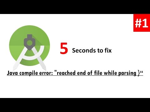 "How to Fix Java compile error: ""reached end of file while parsing }"""