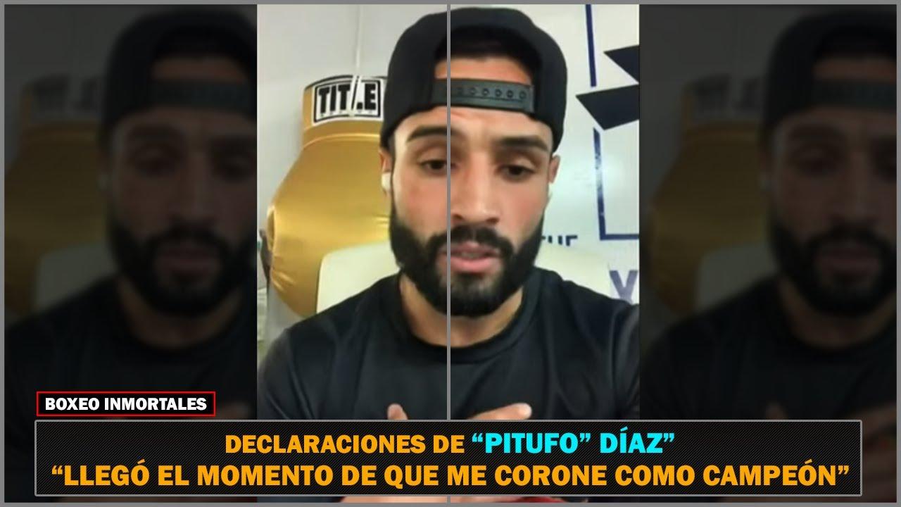 """""""Pitufo"""" Díaz está confiado de vencer al """"Vaquero"""" Navarrete y coronarse campeón."""