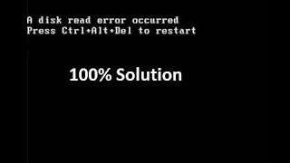A Disk Read error occurred problem Solution| In Hindi