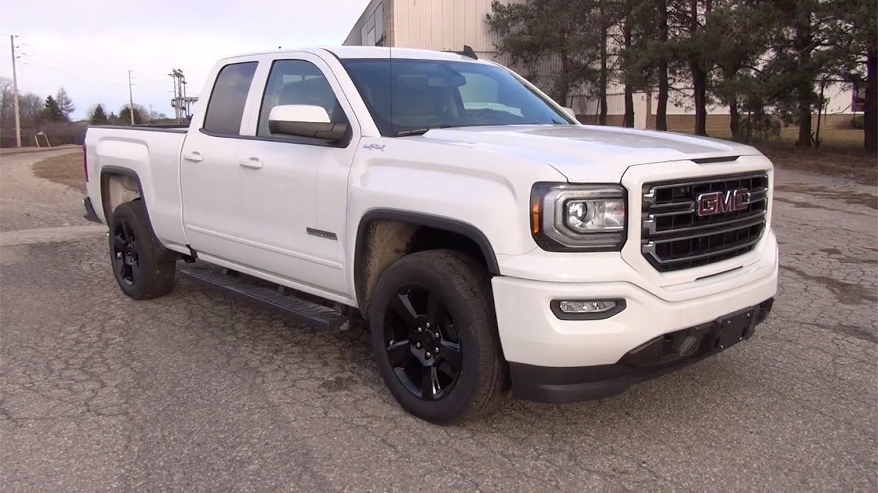 2017 gmc sierra 1500 4wd double cab sle elevation summit white youtube. Black Bedroom Furniture Sets. Home Design Ideas