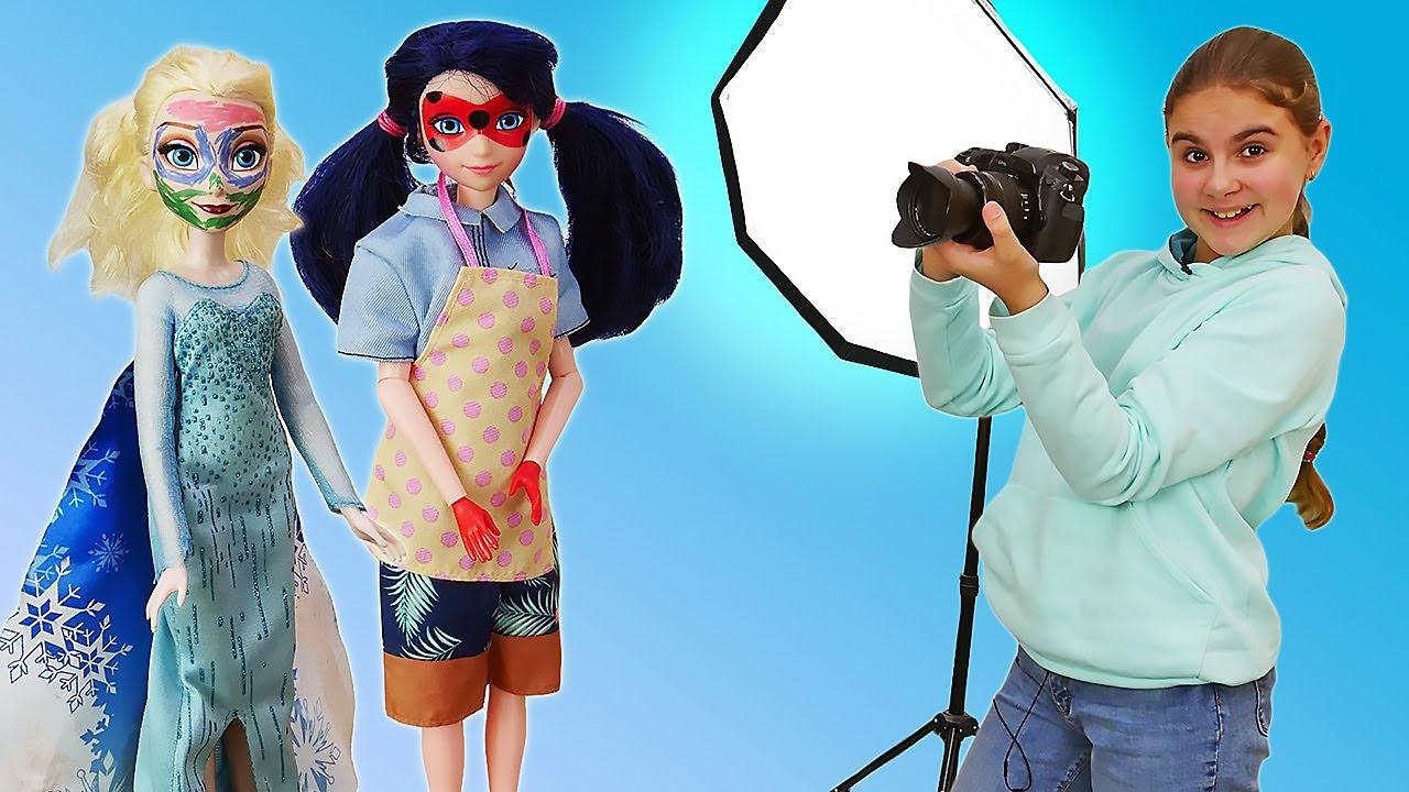 Сборник игры Барби стилист и фотограф - Доктор для кукол - Видео для девочек про Барби