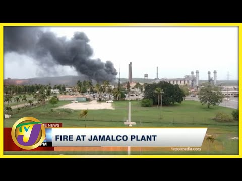 Fire at JAMALCO Plant in Jamaica   TVJ News - August 22 2021