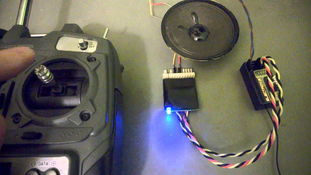 RC engine sound generator sel