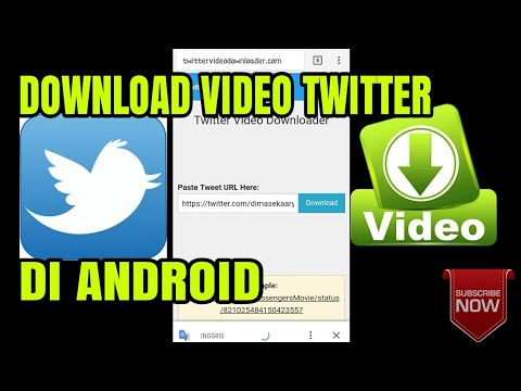 CARA DOWNLOAD VIDEO DARI TWITTER || TUTORIAL ANDROID