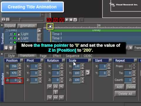 VisualCG 3D [Chapter09] Use of Animation Ex 1 Title Animation