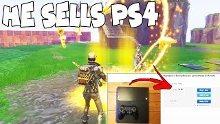 Dumb Scammer Really Sells His PS4 Over Guns! (Scammer Gets Scammed) Fortnite Save The World