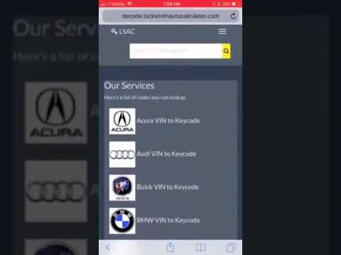 Chrysler vin to key (general motors key code by vin) locksmith software