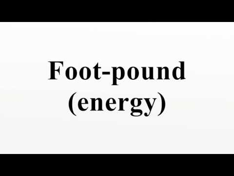 Foot-pound (energy)