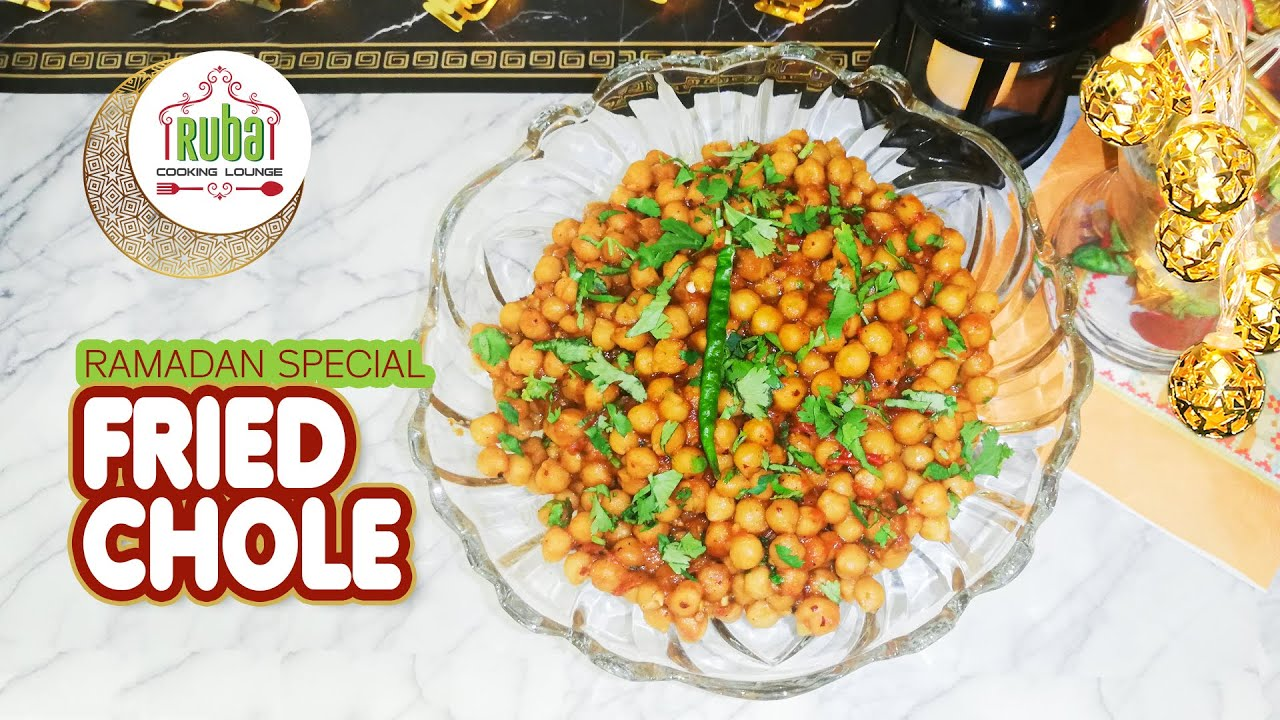 Chole | Fried Chickpeas | Fry Chana Chat | Ramadan Special