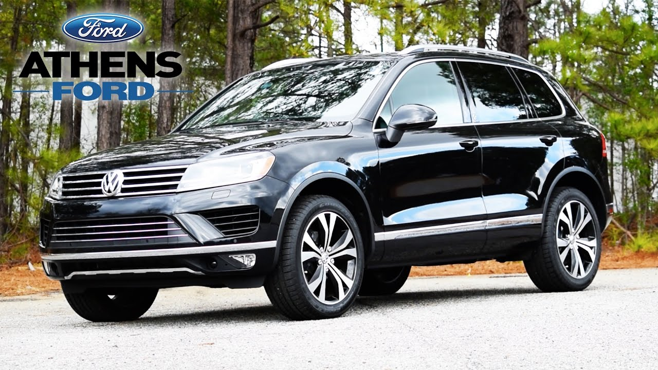 vw touareg  wolfsburg edition  family suv    lb towing capacity youtube