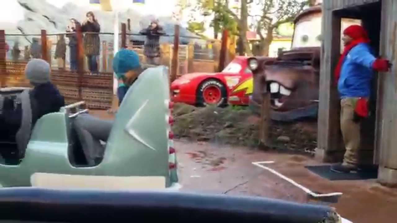 Disneyland Paris Cars Quatre Roues Rallye Onride 26 12 2014