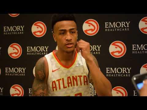 John Collins Atlanta Hawks Media Day 2017